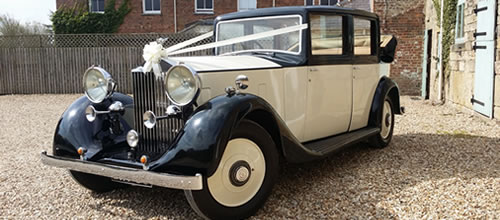 Vintage Rolls Royce Landaulette wedding car