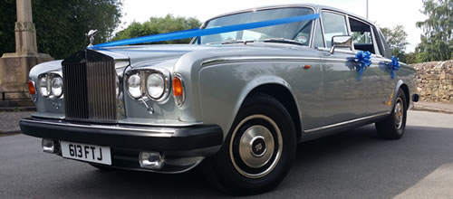 Silver Rolls Royce Silver Wraith II wedding car